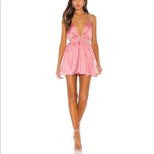 NWT Deep V Neck pink mini dress, revolve superdown